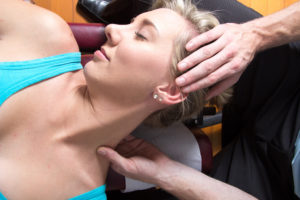 massage therapy on neck